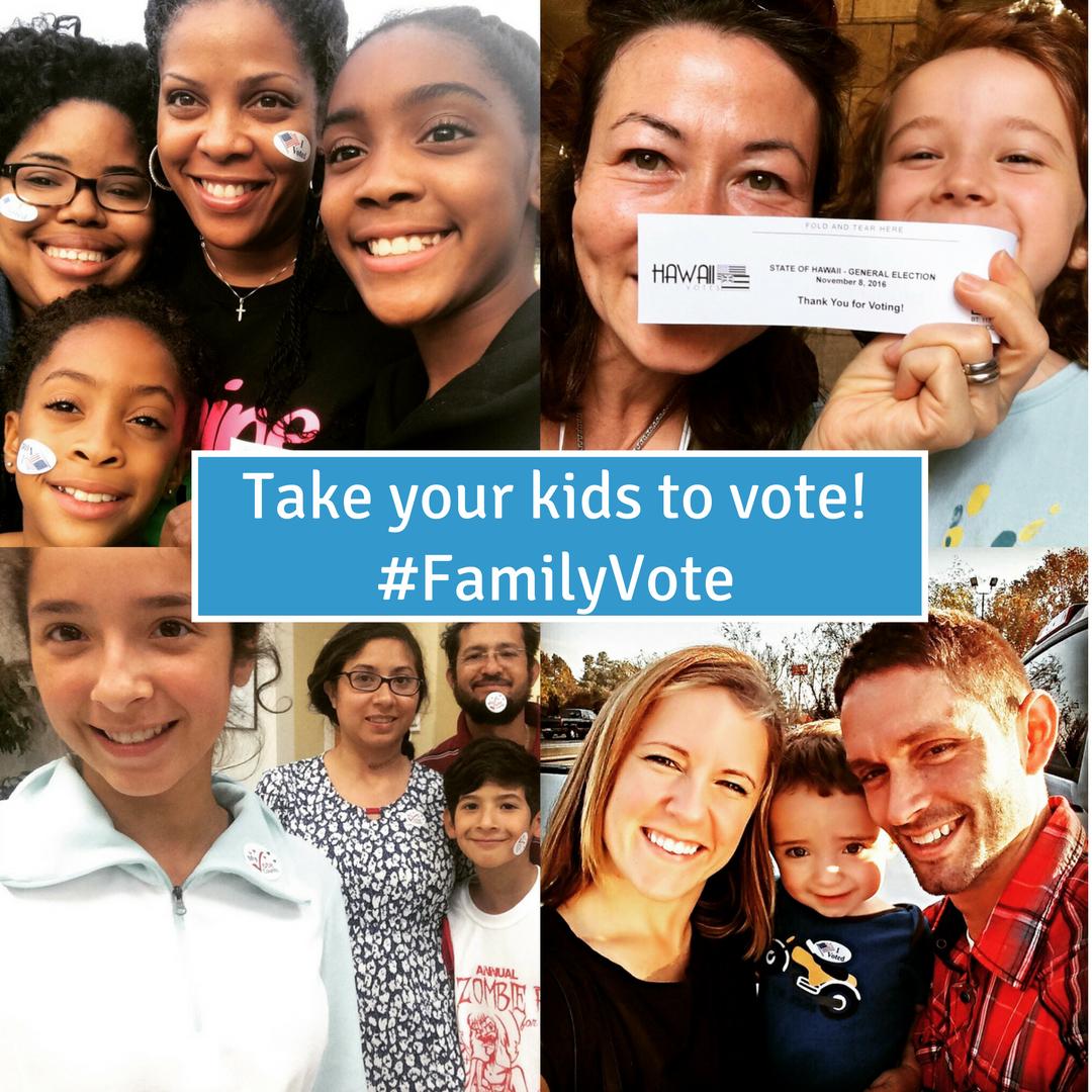 Take your kids to vote #familyvote