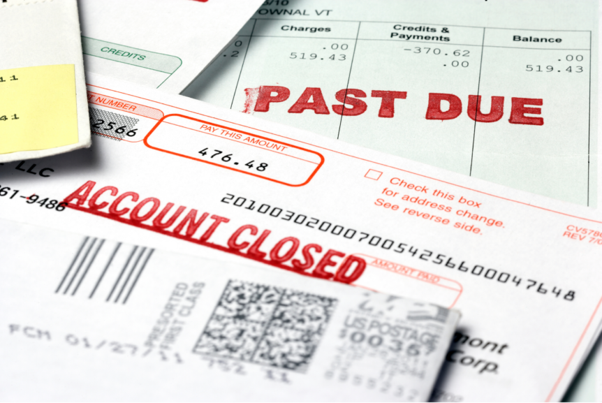 Past Due Notices and Bills