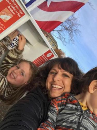 #familyvote selfie